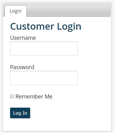 Customer Panel Login